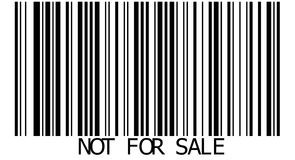 Not for sale Stock Photography