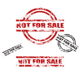 NOT FOR SALE grunge stamp set. Set of four NOT FOR SALE grunge stamp, red and black, two different types ,isolated on white.png file also available Royalty Free Stock Photography