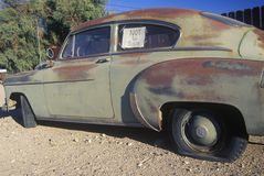 A not for sale used car in Barstow, California Stock Photography