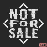 Not for sale vintage stamp. T-shirt print design. Not for sale vintage stamp. Printing and badge applique label t-shirts, jeans, casual wear. Vector illustration Royalty Free Stock Photography