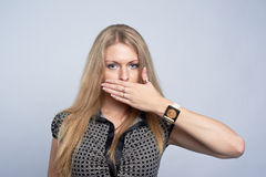 Not say gesture Royalty Free Stock Photography