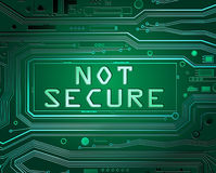 Not Secure Concept. Royalty Free Stock Photo