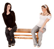 Not sharing bench Royalty Free Stock Photography