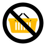 Not shopping icon Royalty Free Stock Images