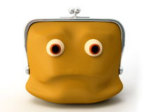 Not smiling purse Stock Photography