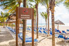 Not smoking area at the beach Royalty Free Stock Photo