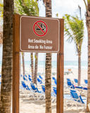 Not smoking area at the beach Royalty Free Stock Photography