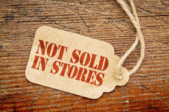 Not sold in stores - paper price tag Stock Image