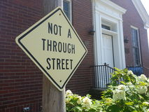 Not a through street Stock Photography
