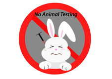 Not tested on animal concept Royalty Free Stock Images
