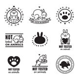 Not tested on animals cute black icons. Can be used as logos and stickers. Stock Image