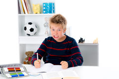 Not to be in the mood for homework Royalty Free Stock Image