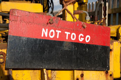 Not to go, sign. Royalty Free Stock Photography