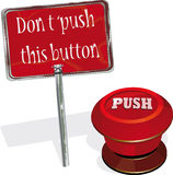 Not to press this button Royalty Free Stock Image