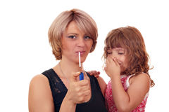 Not to smoke when a child in near Royalty Free Stock Photography
