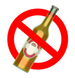Not to throw beer bottle sign Royalty Free Stock Photography