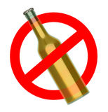 Not to throw beer bottle sign Royalty Free Stock Images