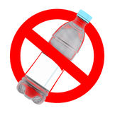 Not to throw plastic bottles sign Stock Images