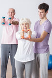 Not too old to be fit! Royalty Free Stock Photography