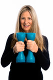 Not Too Old for Weights! Royalty Free Stock Photography
