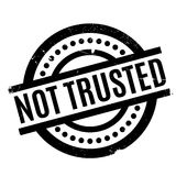 Not Trusted rubber stamp Royalty Free Stock Photos
