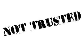 Not Trusted rubber stamp Stock Image