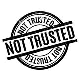 Not Trusted rubber stamp Stock Images