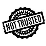 Not Trusted rubber stamp Royalty Free Stock Image