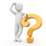 Not understand. The character has understood nothing and has many questions Stock Images