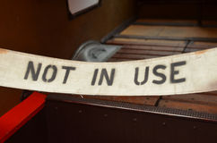 Not in use sign. Royalty Free Stock Images