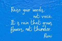 Not voice Rumi Royalty Free Stock Photography