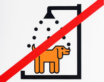 Not washing dog sign Stock Image