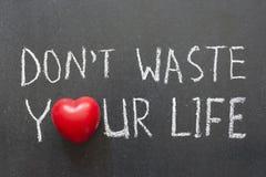 Not Waste Life Stock Photo