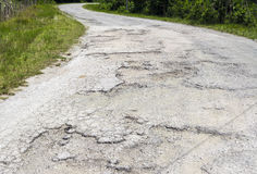 Not well maintained road Royalty Free Stock Photography