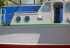 Not working boat. Old boat, which stands under a canopy, is not working royalty free stock image