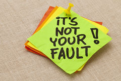 It is not your fault Stock Photos