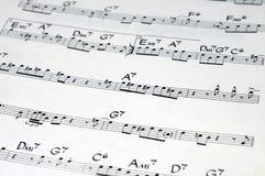 Notação de música Fotografia de Stock