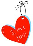 Nota 02 de los corazones Imagenes de archivo