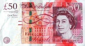 A nota £50 Foto de Stock