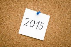nota 2015 Fotografia Stock