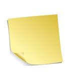 Nota adhesiva amarilla Imágenes de archivo libres de regalías