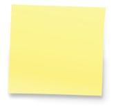 Nota amarela Imagens de Stock Royalty Free