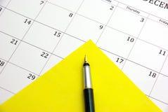 Nota amarela Imagem de Stock Royalty Free