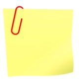 Nota amarela da vara. Fotografia de Stock