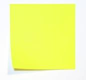 Nota amarilla Imagenes de archivo