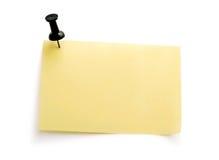 Nota amarilla con el contacto negro Imagen de archivo