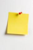 Nota amarilla del recordatorio Foto de archivo libre de regalías