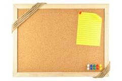 Nota appiccicosa appuntata Fotografia Stock