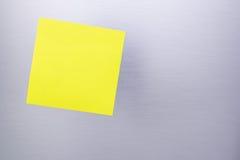 Nota appiccicosa in bianco Fotografia Stock