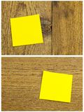 Nota appiccicosa in bianco di amore della carta del messaggio di ricordo Fotografie Stock Libere da Diritti
